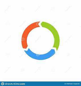 Vector Circle Arrows For Infographic  Template For Diagram