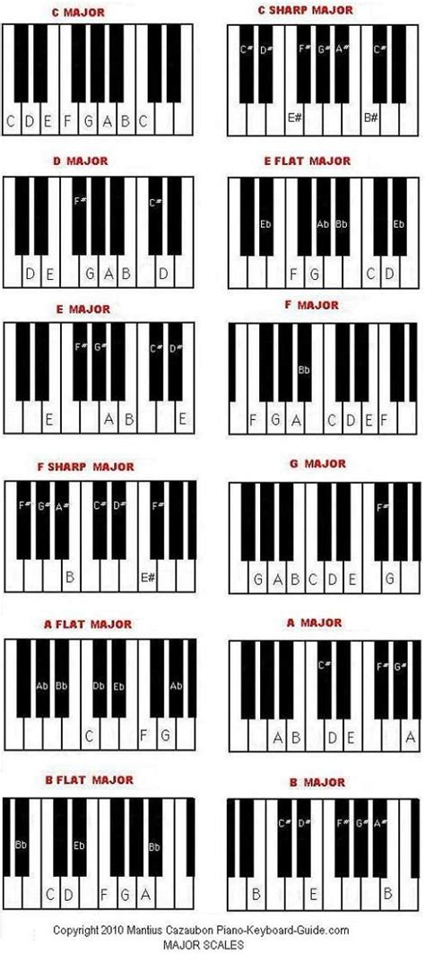 Diagram Scales The Piano Great For Students Use