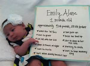 1 Month Old Baby Sign