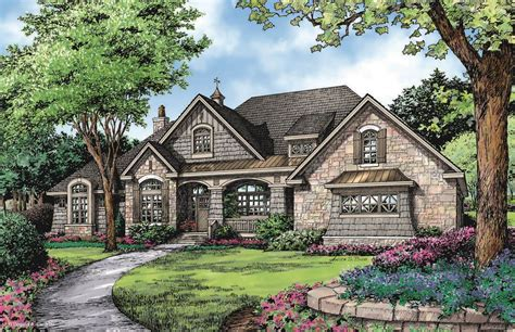 markham home plan  donald  gardner architects french country house plans craftsman