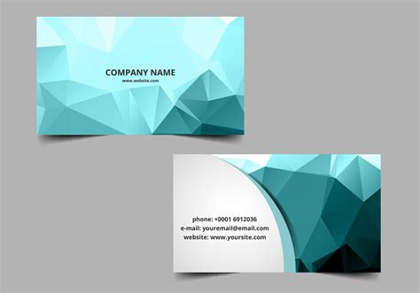 vector polygon visiting card   vector art