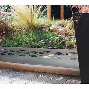 Bordure De Jardin : bordure de jardin en acier galvanis brut ajour e de ~ Melissatoandfro.com Idées de Décoration