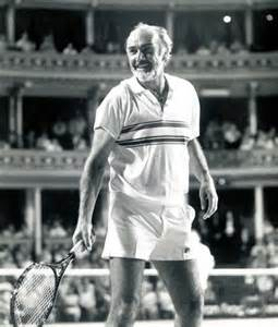 Sean Connery Playing Tennis