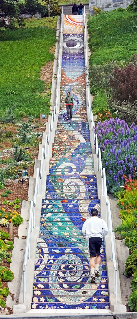 These Tiled Steps In San Francisco Glow At Night From The. Holiday Party Banners. Street Food Banners. Unicode Signs Of Stroke. Thankful Banners. Studio Murals. Toy Story Character Signs Of Stroke. Shoe Print Stickers. Center Signs