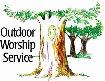 Outdoor Service Worship Church Clipart Picnic Moravian