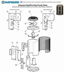 Hayward Heatpro Heat Pump Parts Models Hp2100  Hp2100tc0