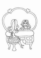 Stamps Dream Digi Coloring Vanity Colouring Dressing Powder Tables Organization sketch template