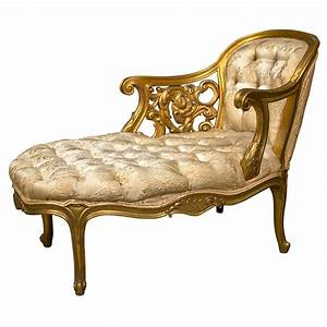 French Rococo Style Gilt Recamier at 1stdibs