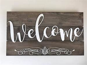 Rustic, Welcome, Signage, Design, Example