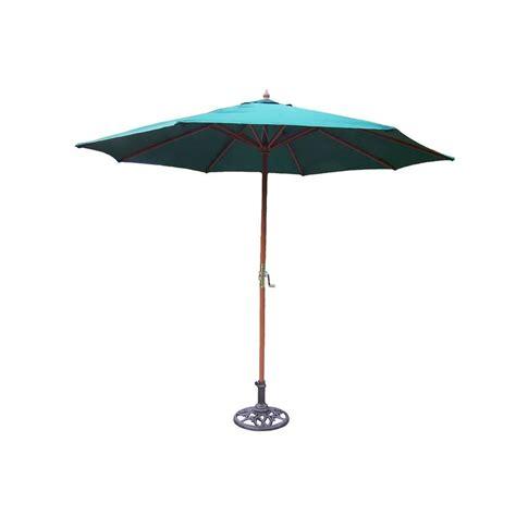 Hton Bay Patio Umbrella Base by Hton Bay 9 Ft Steel Crank And Tilt Patio Umbrella In