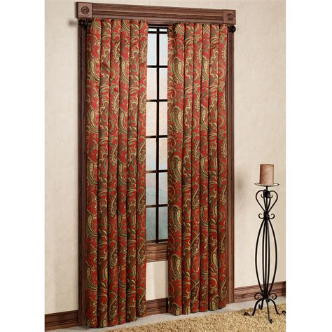 paisley curtains bali back tab tailored curtain panel