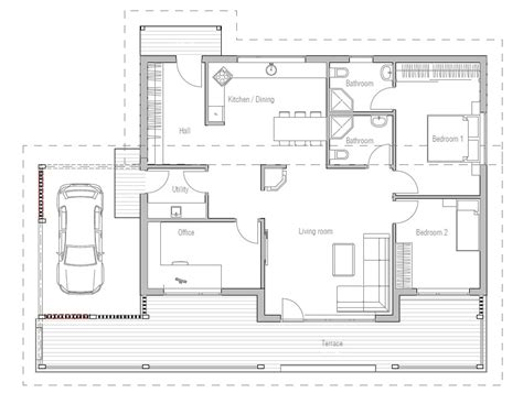 house plans affordable small house floor plans prairie affordable home ch23 in modern architecture house plan