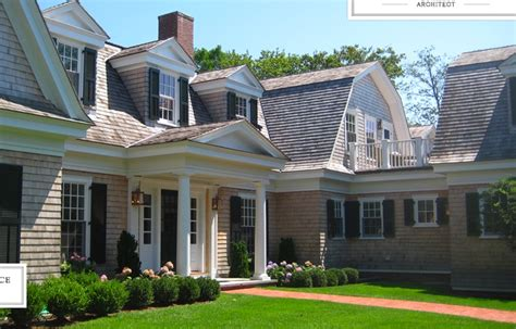 summer house shingle style cape gambrel newport house