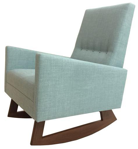 mid century modern style nursery rocking chair chairish