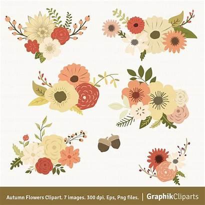 Flowers Floral Autumn Clipart Flower Clip Fall