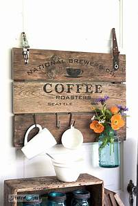Coffee crate lid signFunky Junk Interiors