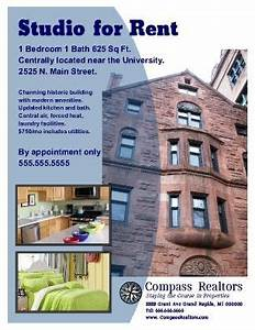 apartment rental flyer great for student housing With rental property flyer template