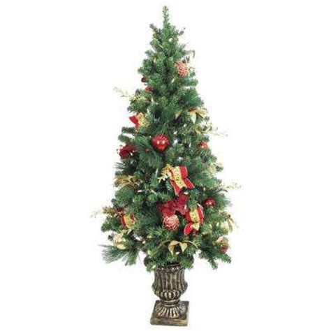 prelit battery operated potted christmas tree topiary tabletop potted pre lit trees artificial trees