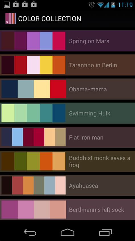 color collection palettes apk  android apps