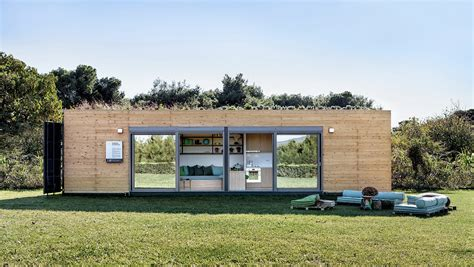 Contemporary Cocoon House by Shipping Container House Prototype By Cocoon Modules