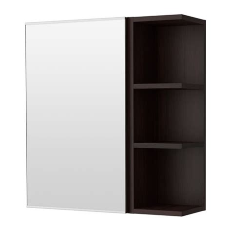 lill 197 ngen mirror cabinet 1 door 1 end unit black brown