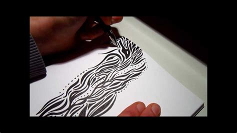 Abstract Black Ink by Abstract Black Ink Drawing