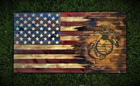 americanmarine flag marines wooden flag wooden