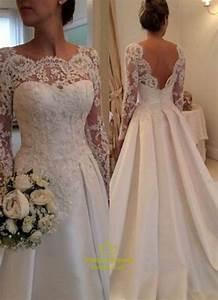 v back long sleeve illusion lace bodice wedding dress with With illusion bodice wedding dress