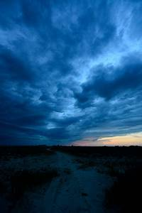 Dark, Storm, Clouds, Above, Sand, Road, In, Steppe, Landscape, At, Stock, Photo, -, Download, Image, Now