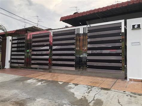 metal works johor bahru auto gate grill awning jb stainless steel polycarbonate
