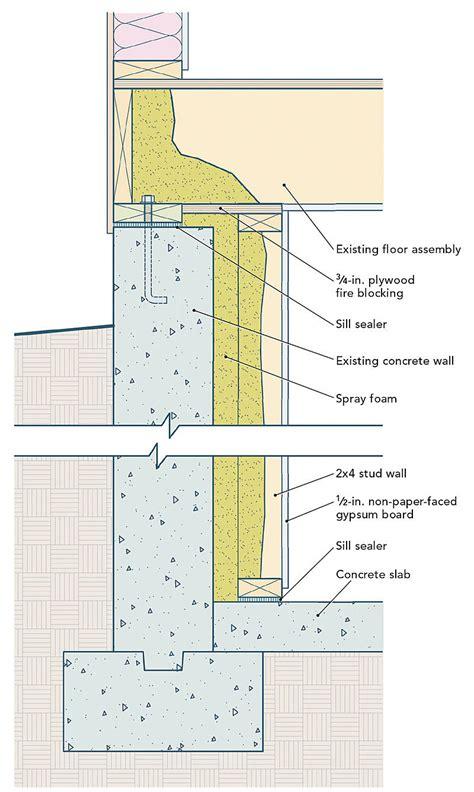 adding insulation  basement walls fine homebuilding