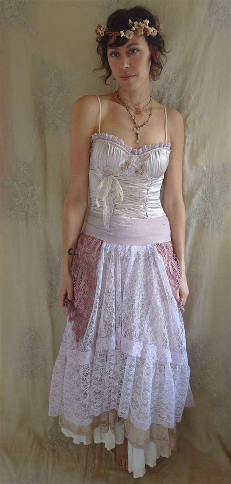 shabby chic ring bustier formal gown or wedding dress