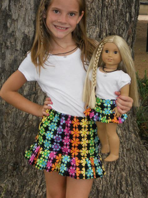 18 Inch American Girl Doll Clothes Matching Doll and Girl