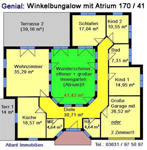 Bungalow Mit Atrium by Die 25 Besten Ideen Zu Winkelbungalow Grundriss Auf