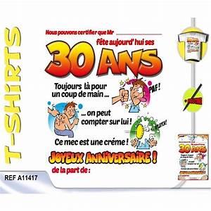 T Shirt 30 Ans : carte anniversaire humour 30 ans homme coleteremelly official ~ Voncanada.com Idées de Décoration
