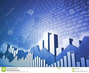 Stock Growth Chart Low Angle Stock Market Bars Charts Stock Illustration