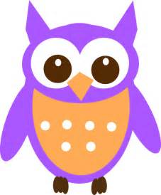 Purple Owl Clip Art