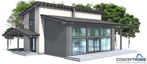 modern house ch  open planning house plan