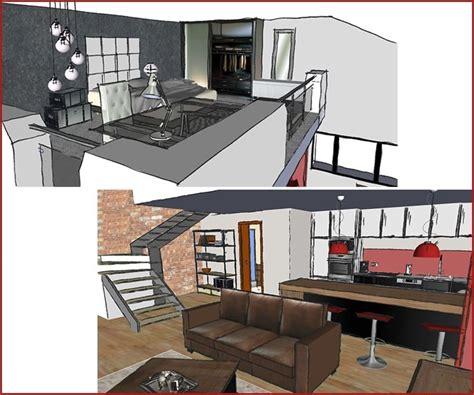 couleur murs cuisine aménagement d un studio avec mezzanine l 39 atelier de la