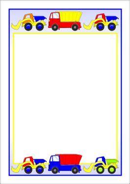 dump trucks  diggers  page borders bordes  marcos