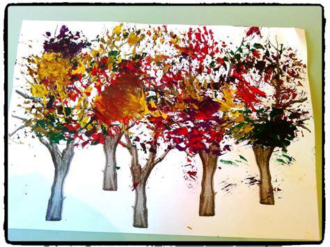 Peindre Une Foret En Automne, Arbre, Peinture à La Brosse