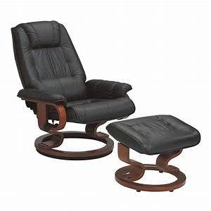 Fauteuil Cuir Noir : fauteuil de relaxation cuir noir univers du salon ~ Melissatoandfro.com Idées de Décoration