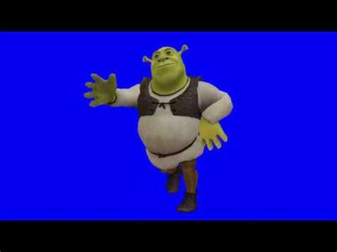 mmd shrek   fortnite default dance   blue