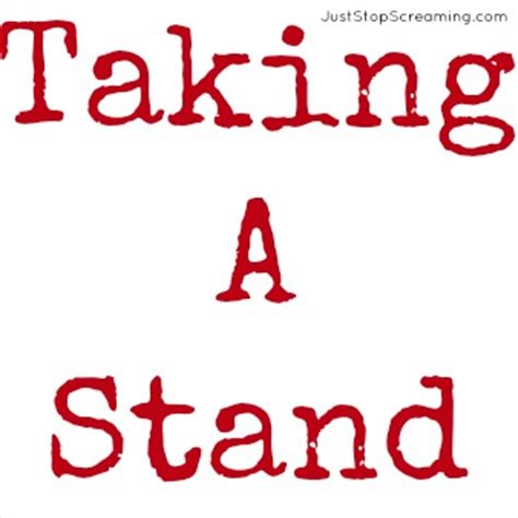 Strong Takes A Stand standing strong even when it may not be easy