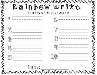primary pals rainbow write templates