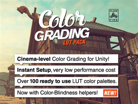 color grading pack    paid unity assets
