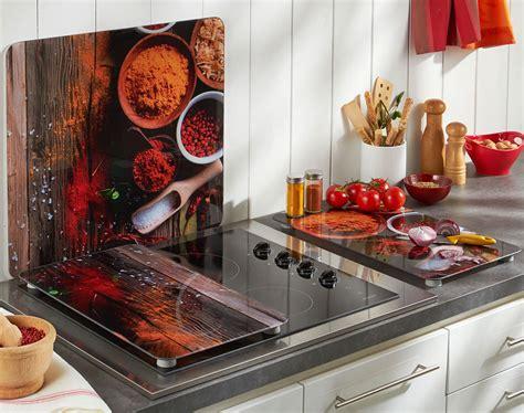 credence cuisine fantaisie crédence et couvre plaques décor épices becquet