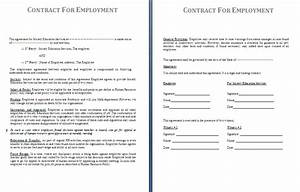 employment contract sample free free printable documents With employers contract template