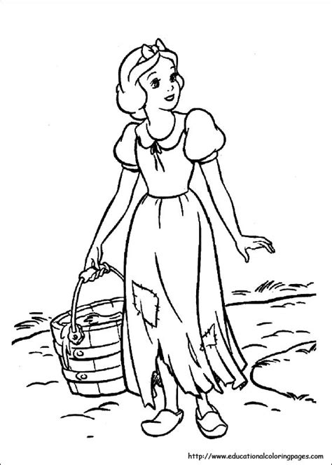 snow white coloring pages   kids