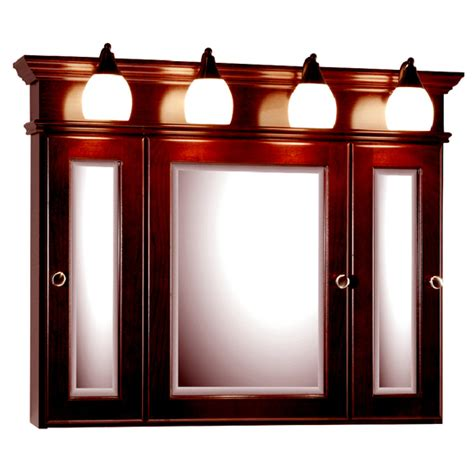 medicine cabinet with lights medicine cabinets 36 inch rounded profile tri view